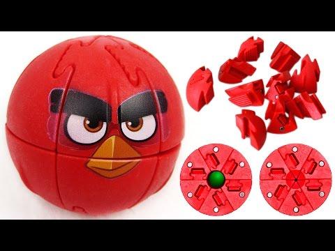 Крашик Angry Birds Red | Магнитный 3D Пазл