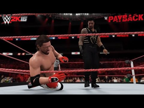 WWE 2K16 Payback 2016 Roman Reigns vs AJ Styles (Gallows/Anderson turn on Styles, Finn Balor Debuts)