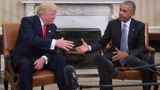 Trump praises Barack Obama