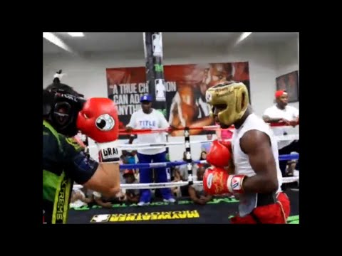 Watch Floyd Mayweather wreck a sparring partner in training for Pacquiao fight