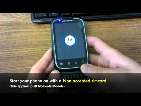 Video: How to Unlock Motorola Phone - Unlocking Motorola by Subsidy Unlock Code or Sim Network Unlock Pin