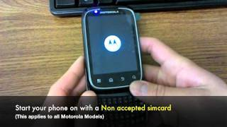 How to Unlock Motorola Phone - Unlocking Motorola by Subsidy Unlock Code or Sim Network Unlock Pin