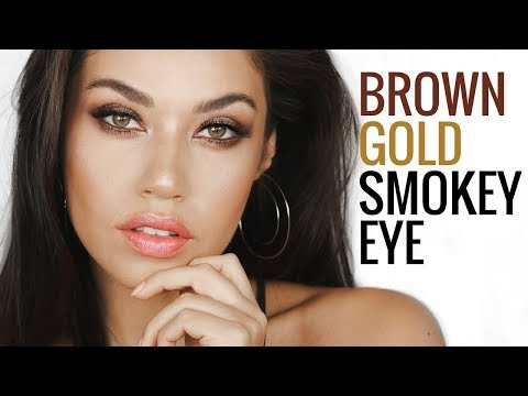 Brown Gold Smokey Eye   Easy Smokey Eye Makeup Tutorial Using One Eyeshadow   Eman