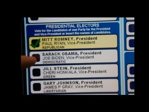 Election 2012 - 2012 Voting Machine switch Obama vote to Romney