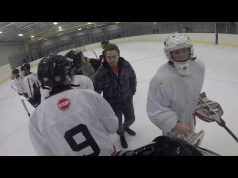 4th hockey game recorded/ Gopro hockey goalie