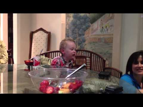 3-year-old Boy Sings we Are Young By Fun.! video