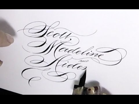 Writing names in calligraphy