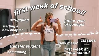 first week of school VLOG // college junior + transfer student