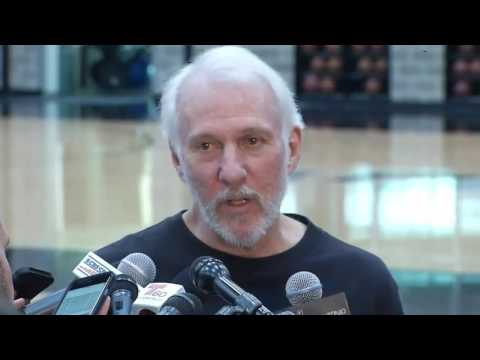 Gregg Popovich talks about Tim Duncan's retirement