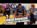 download SHORTEST NBA DRAFT PROSPECT (5'5) GETS BUCKETS!! | Junior Robinson PBC Highlights