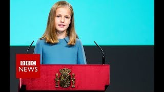 Spain's princess delivers her first speech - BBC News