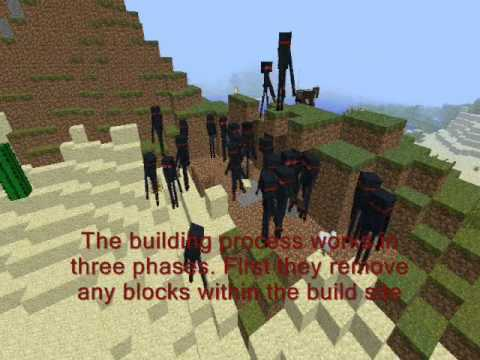 Minecraft RTS Mod - Creepy Kingdom: Multiple Tasks / Building / Gathering