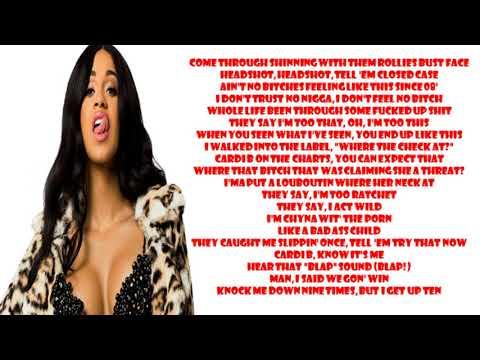 Cardi B - Get Up 10 [Official Lyrics]