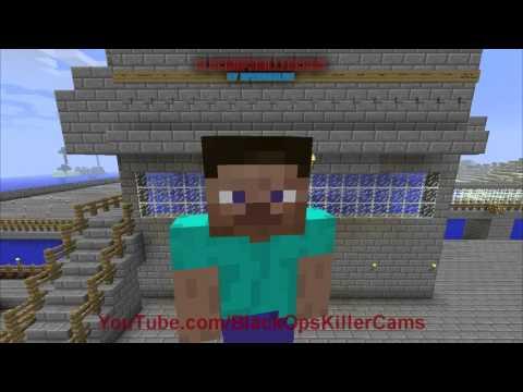 Minecraft PC Time Lapse - Random Redstone Mob & Animal Farm / Drowning Tank Build + Hopper & Chest