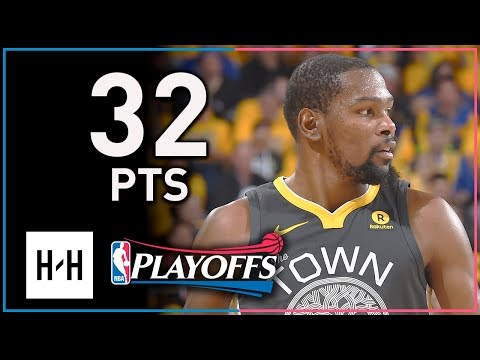 Kevin Durant Full Game 2 Highlights Warriors vs Spurs 2018 Playoffs - 32 Points, SICK!