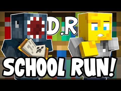 Minecraft - Death Run - SCHOOL RUN! W/AshDubh