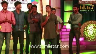 Aadhiyan Movie Team At Saveetha College