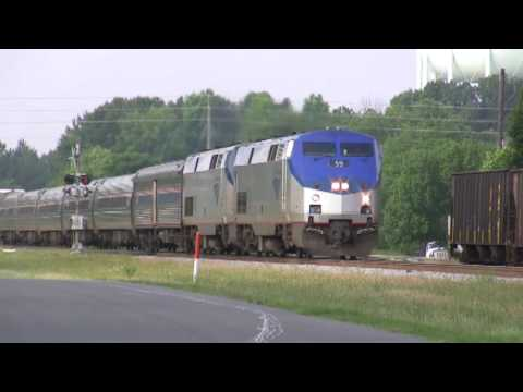 Amtrak Silverstar Train 92 going through Apex, NC