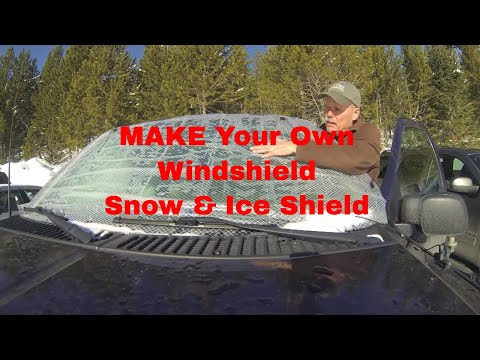 DIY Vehicle Snow & Ice Shield
