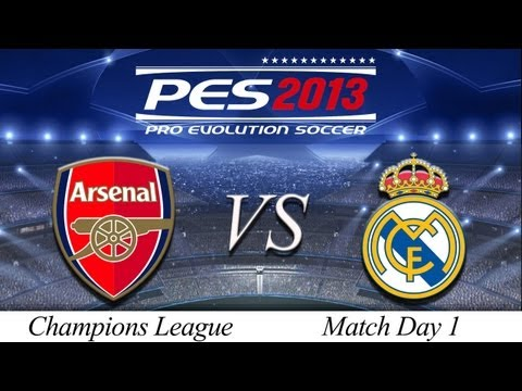 [TTB] PES 2013 Arsenal Vs Real Madrid - Playthrough Commentary, ML Champions League Game 1!