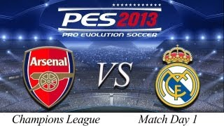 [TTB] PES 2013 Arsenal Vs Real Madrid – Playthrough Commentary, ML Champions League Game 1!