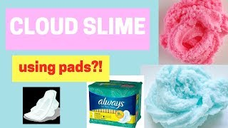 CLOUD SLIME WITHOUT FAKE SNOW! USING PADS!