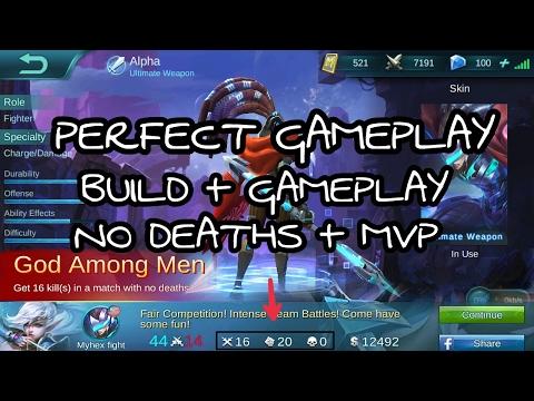Mobile Legends Perfect GAMEPLAY Alpha [MVP][NO DEATHS][GOD AMONG MEN]