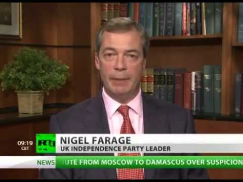 UKIP Nigel Farage says Conservative PM David Cameron hiding massive budget deficit - Oct 2012