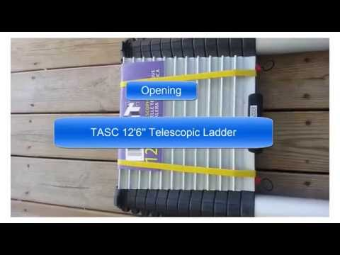 12'6'' Telescopic Ladder TASC Ladder TASC 12'6'' Telescopic Ladder Telescoping Ladder Aluminium Best