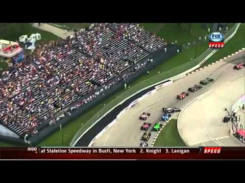 Indycar 2013 Detroit - Sebastien Bourdais having Another Cry as Normal (This time over Will Power)