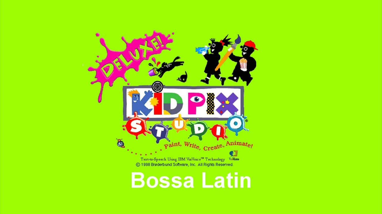 Kid pix studio deluxe 1998 cd rom soundtrack part 1 youtube