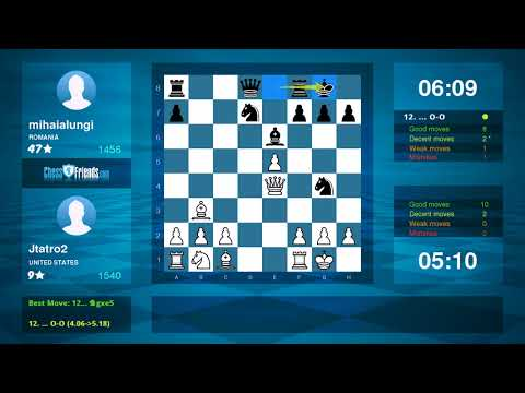 Chess Game Analysis: Jtatro2 mihaialungi : 10 (By ChessFriends.com)