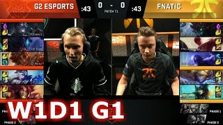 G2 eSports vs Fnatic | Game 1 S7 EU LCS Spring 2017 Week 1 Day 1 | G2 vs FNC G1 W1D1