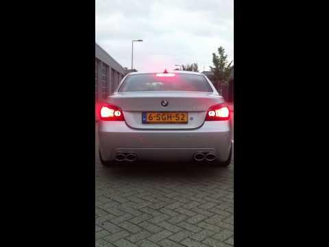 BMW E60 550i RVS sportuitlaat op maat by KCEsportuitlaat