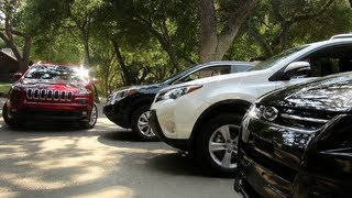 2014 Jeep Cherokee vs Toyota RAV4 vs Ford Escape vs Honda CR-V Mashup Review