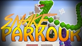 MOVING SNAKE MADNESS (Minecraft Custom Parkour)