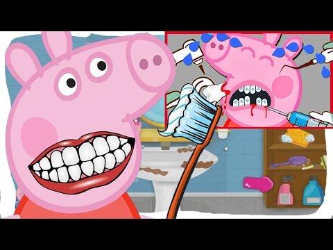 Мультик свинке пеппе лечат зубы