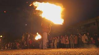 炎の輪、今年は復興も祈願
