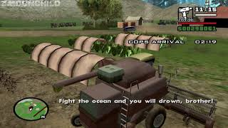 What happens if a Combine Harvester is used for the mission Are You Going to San Fierro?