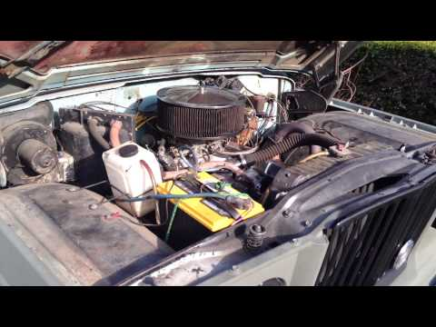 1965 Jeep Gladiator J-2500 Engine Rev (For Sale)