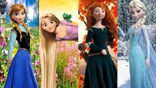 Anna, Elsa, Rapunzel, and Merida (The Four Seasons of Disney?) - Fireflies