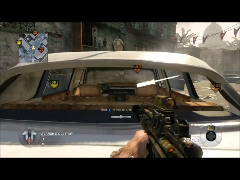 Ballistic Knife Black Ops Gameplay How to Make Floating Ballistic Knives in Cod Black Ops