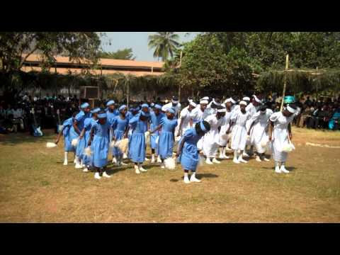 Majorettes Dancing At A Pastors Conference In Congo