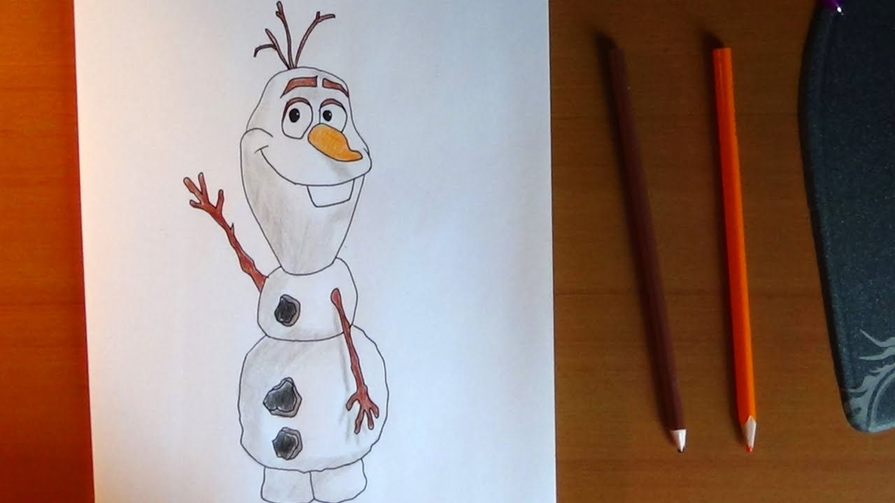 How to draw Olaf from Frozen, Como dibujar a Olaf de Frozen, Как ...