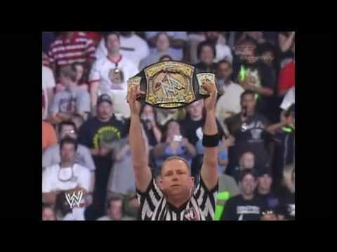 John Cena Vs Randy Orton Vs Edge Vs Shawn Michael- Fatal Four Way Backlash 2007 Part 1 video