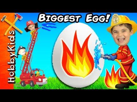 Giant FIREMAN Surprise Egg