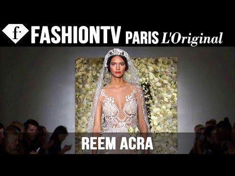 Reem Acra Bridal Fall 2015 Runway Show | Fashiontv video