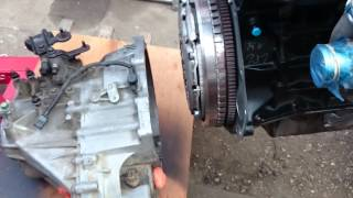 KIA Sedona 2.9 CRDi J3 engine / gearbox installation part2