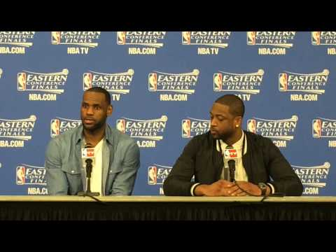 LeBron James and Dwyane Wade speak after Miami Heat's Game 4 win over Pacers