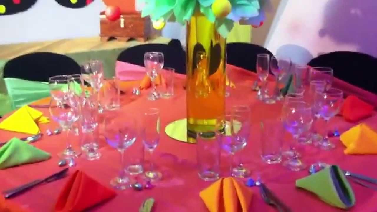 Centro de mesa tematica neon youtube - Mesa de centro plegable ...